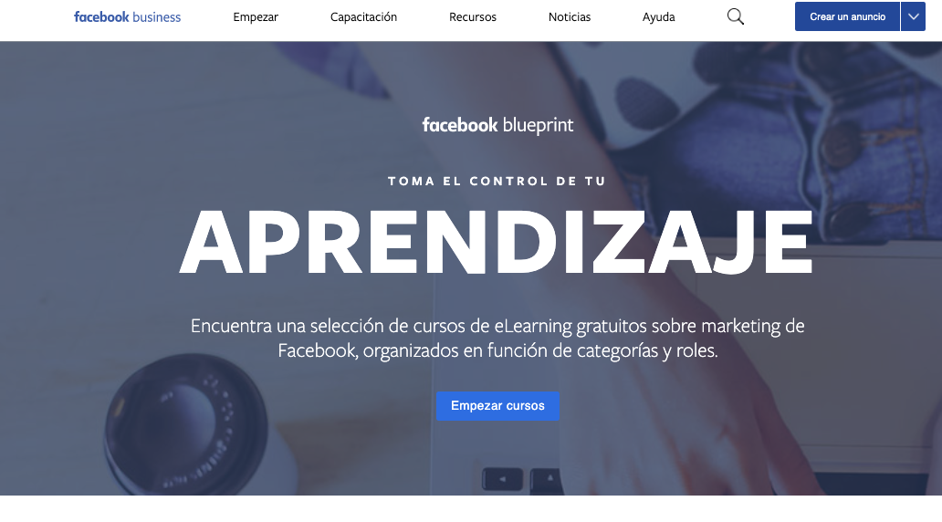 Certificación en marketing digital blueprint facebook
