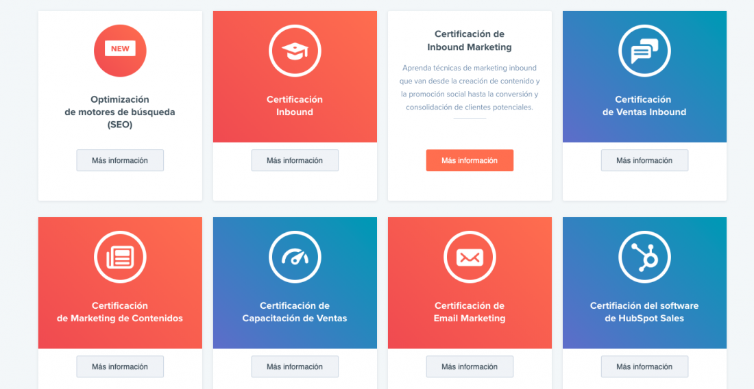Certificación Marketing digital hubspot