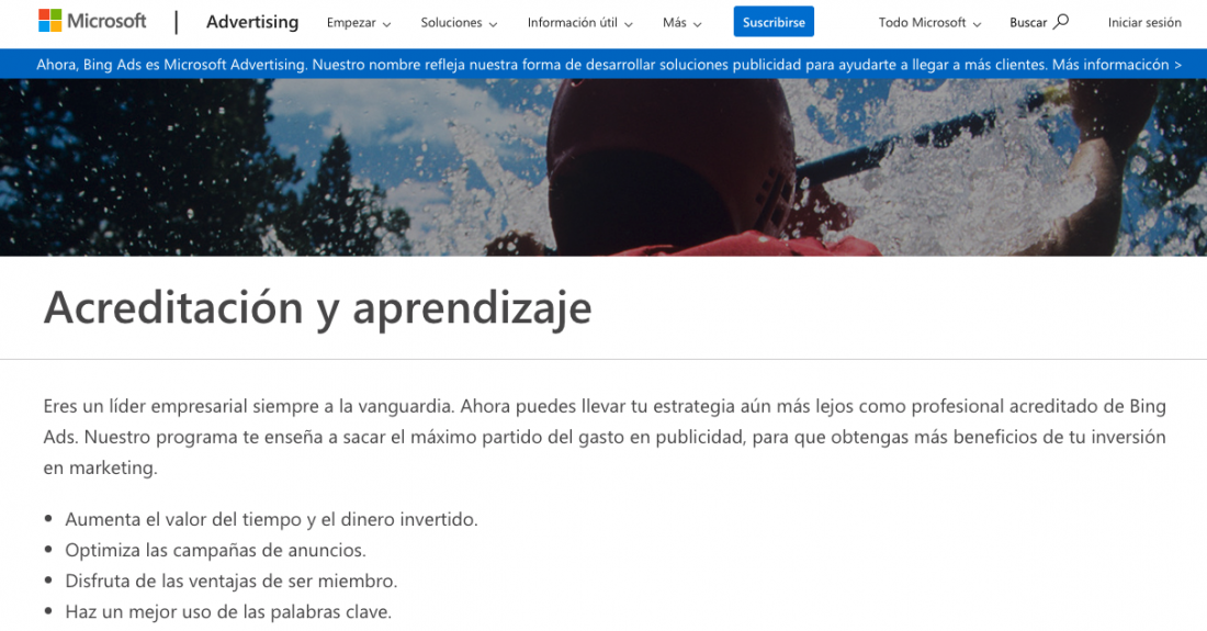 certificación en marketing digital bing ads